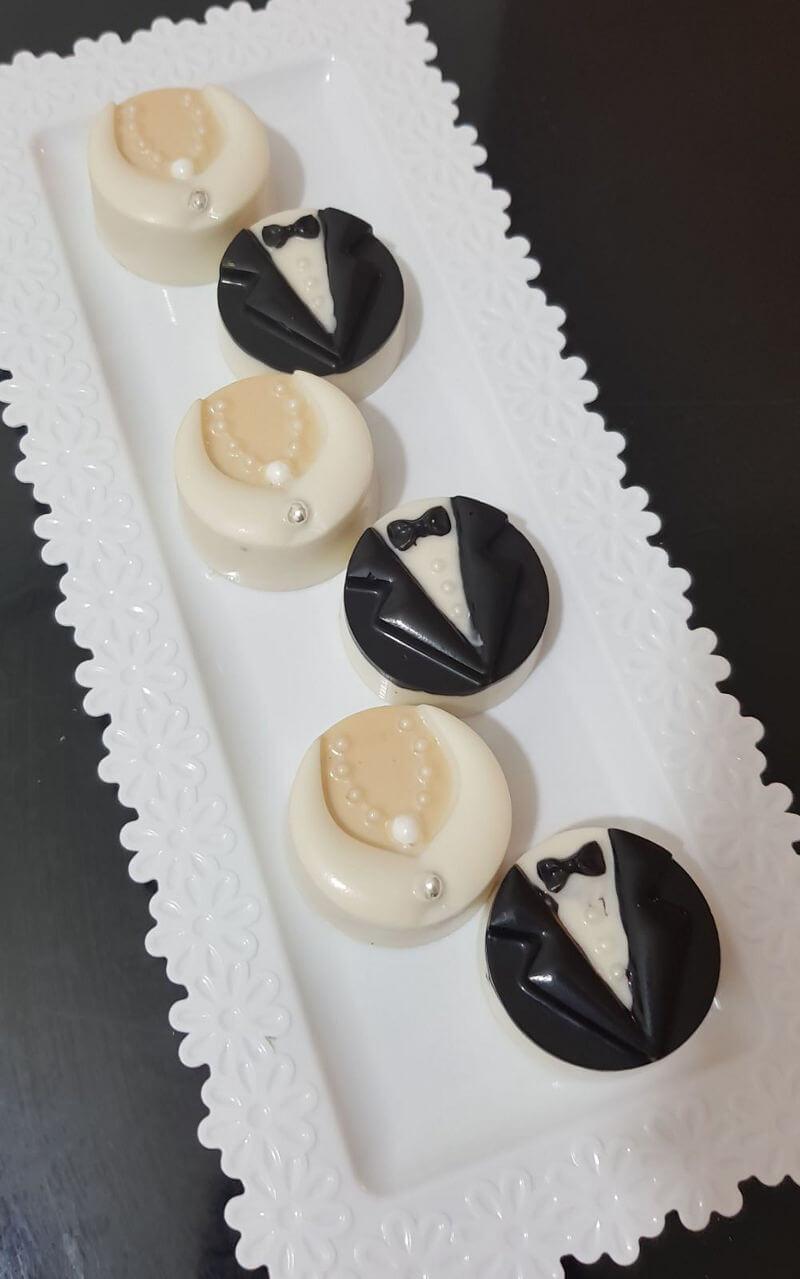 שוקולדים מעוצבים לחתונה