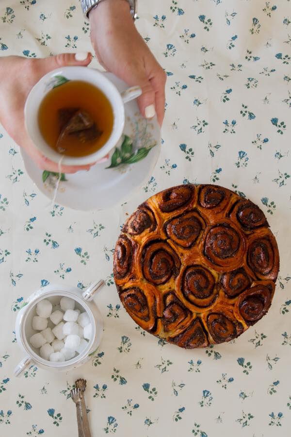 עוגת שמרים שוקולד עגולה